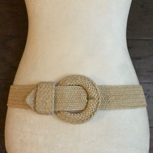 Lilly Pulitzer natural straw stretchy belt, VGUC